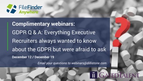 GDPR Q&A webinars: Everything Executive Recruiters always wanted to know about the GDPR but were afraid to ask