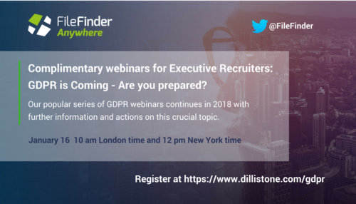 GDPR is Coming - Is Your Executive Search Firms Prepared?