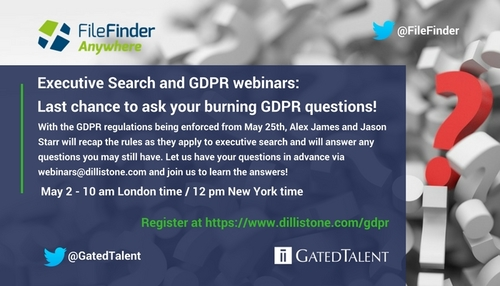 Last chance to ask your burning GDPR questions!