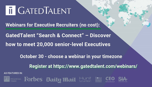 """GatedTalent """"Search & Connect"""" – Discover how to meet 20,000 senior-level Executives"""