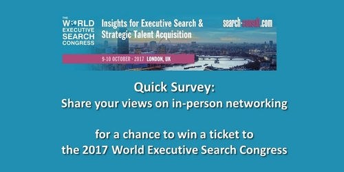 Share Your Views On In-Person Networking - A Quick 5-Questions Survey