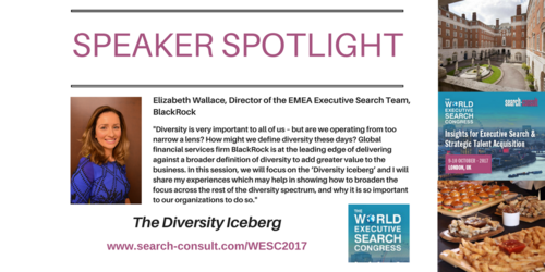 SPEAKER SPOTLIGHT: Elizabeth Wallace to Share Her Insights on Diversity at the World Executive Search Congress