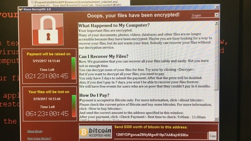 Large scale ransomware attack against UK hospitals