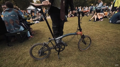 Brompton Ride London 100 In A Full Suit Completed For LandAid!
