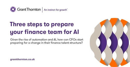 Three steps to prepare your finance team for AI