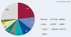 Energiespeicher: Deutsche Anbieter führen bei Marktanteilen