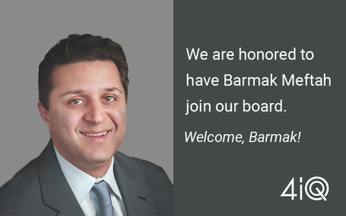 Barmak Meftah Joins 4iQ Board of Directors
