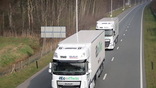Lorry platoons to a motorway near you?