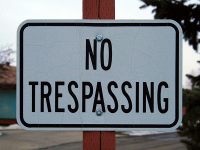 Protesters Trespassing