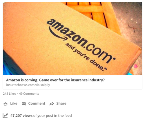 Amazon moving into Insurance or Banking?