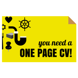 Creative CV templates and the one page CV