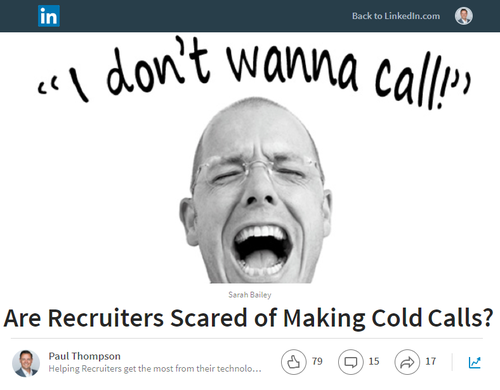 Are Recruiters Scared of Making Cold Calls?