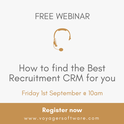 FREE Webinar! How to find the Best Recruitment CRM for you.