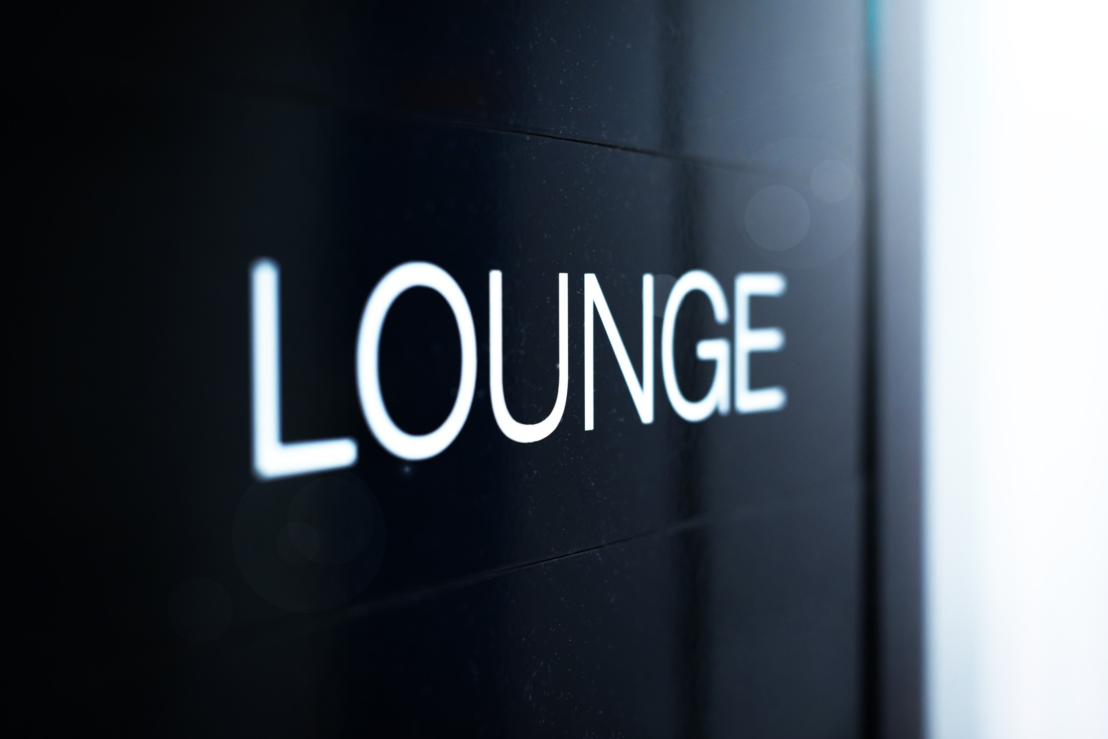 the business lounge....