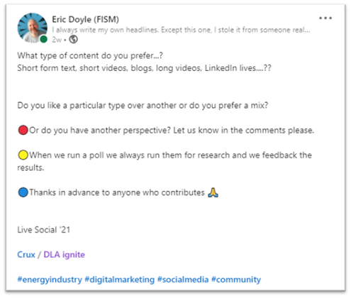 #linkedin #socialmedia #content