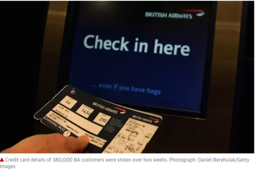 Under GDPR British Airways (BA) Could be Fined £500M ($650)