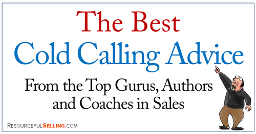 Here's my tip - don't listen to the advice that says you should be cold calling.