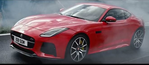 Jaguar ad takes the chequered flag