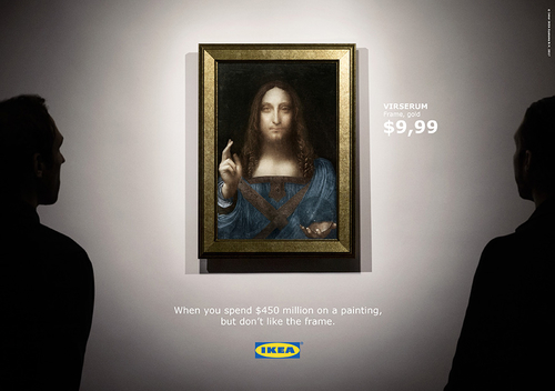 When you spend $450 million on a painting, but don't like the frame...