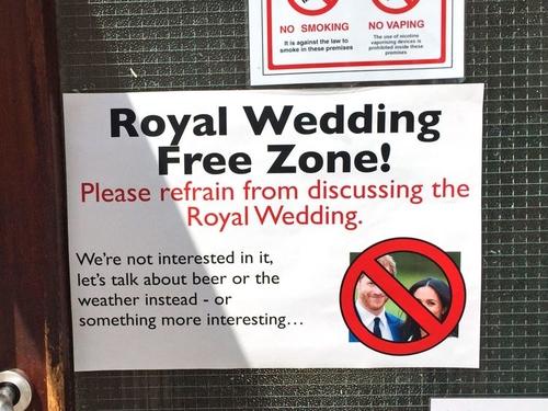 Royal Wedding Free Zone
