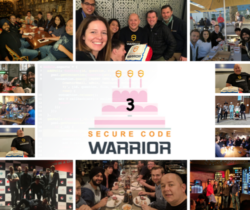 Secure Code Warrior - Happy 3rd Birthday to us