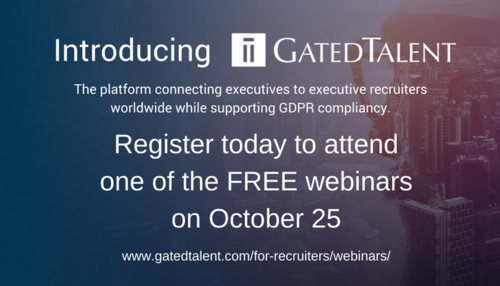 GatedTalent - Introductory Webinars on October 25 - Register Today