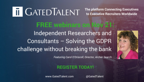 Independent Researchers and Consultants – Solving the GDPR challenge without breaking the bank