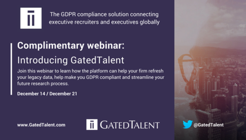 Introducing the GDPR compliant platform that allows executive recruiters to connect with executive talent