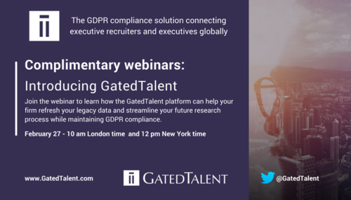 Discover GatedTalent - the GDPR Compliance Platform that Connects Executive Recruiters with Top Talent