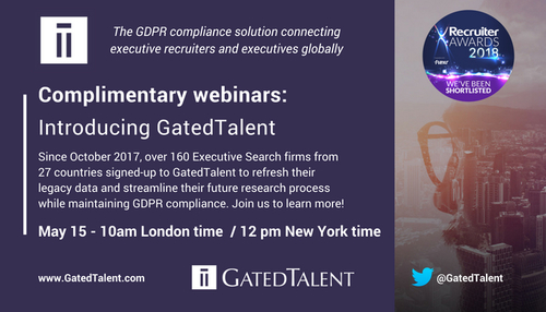 It's not too late to refresh your legacy data and get GDPR ready with GatedTalent