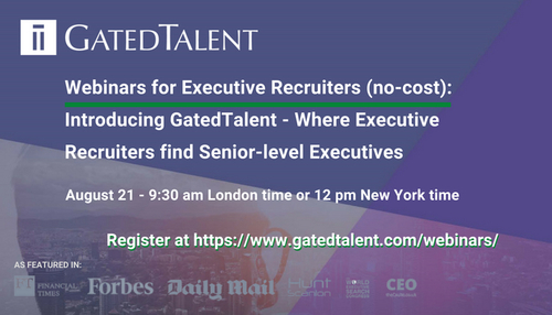 Discover GatedTalent - Where Executive Recruiters find Senior-level Executives