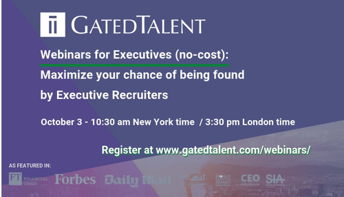 [Webinar For Executives] How To Maximize Your Chance Of Being Found By Executive Recruiters
