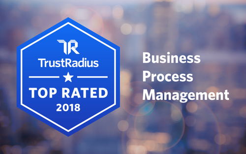 Pega one of TrustRadius Top Rated 2018 BPM Software Vendors