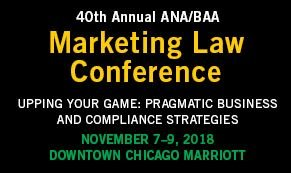 Come See Frankfurt Kurnit at the 2018 ANA/BAA Marketing Law Conference