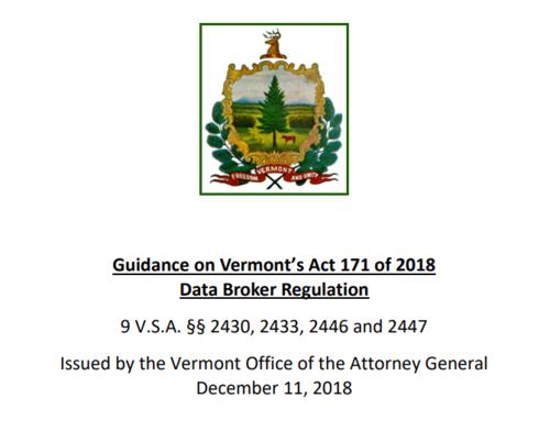 Vermont AG Issues Guidance on New Data Broker Regulation