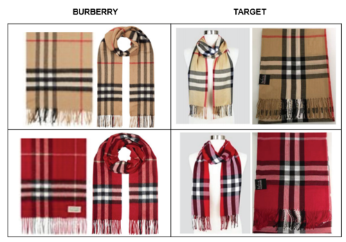 Burberry sues Target over use of check design