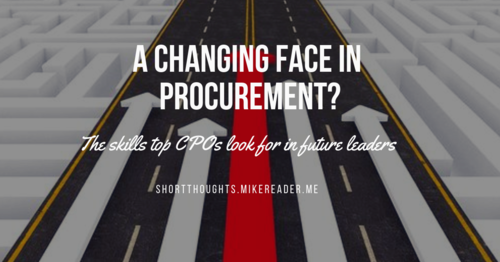 A changing face in procurement?