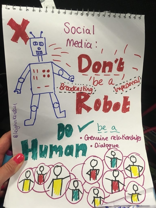 Be a Brave Human on Social Media, Not a Soulless Robot