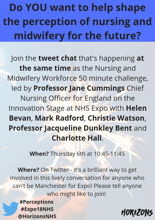 Help transform the perceptions of nursing and midwifery at Expo – via Twitter!