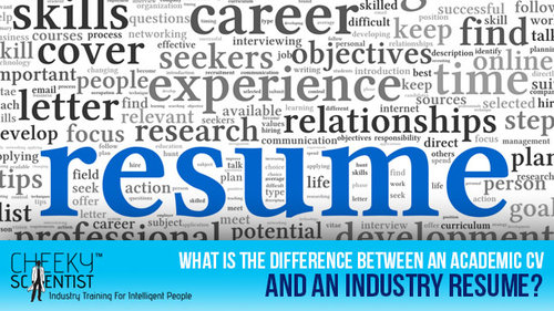 Moving from Academia to Industry?...Here are Some Tips on Building a Great Resume